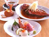 *夕食定番メニュー例「金目鯛の姿煮2~3名サイズ」・自家製パングラタン等,神奈川県,江の浦テラス