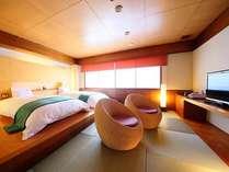 ■モダン和風ツインのお部屋 可愛らしいデザインが特徴です