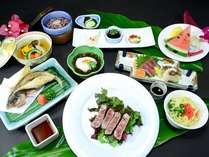 【5連泊リゾートステイ】ホテルディナーにご招待♪石垣牛焼肉セットor和洋折衷コース
