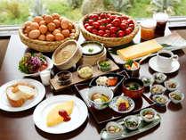 からだがよろこぶユインチのヘルシー朝食ブッフェ♪南城市産の野菜や卵、チーズやモズクを使用!