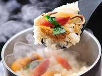 海鮮釜飯&ずわい蟹付 季節の味覚膳のご夕食
