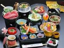 ~夕食一例~素朴な料理の中に郷土料理を加え、懐かしさを味わえます。