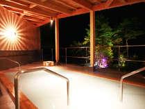 空中露天・杜の湯(夕景・女性用)極上にごり湯からの大自然を満喫いただけます!