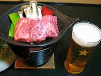 ゆっくりほっこりの~んびり!名物『福島牛』の陶板焼きをお楽しみ下さい!