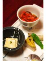 イカニンジンなど郷土料理夕食お料理一例