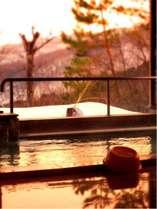 朝一番の露天風呂は太陽の光を浴びてパワースポットのよう!