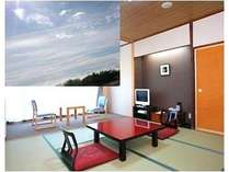本館客室  運が良ければ雲海を目前に見渡すことができます