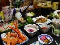 あつみ温泉は、海.山.川に囲まれた自然豊かな土地。魚介類、庄内の美味しいお米やお酒をどうぞ。*一例。