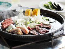 *当館人気の「屋内BBQ」!お肉のほかにもお野菜やデザートをご用意しております!
