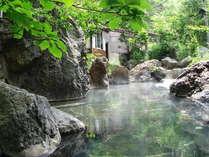 松川渓谷の大岩を巧みに組み込んだ大野天風呂は、甲信越一を誇る滝の湯自慢のお風呂です。