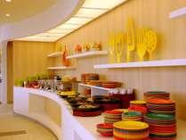 大阪市街を一望できる朝食会場