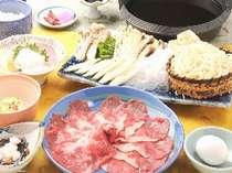 『すき焼きの食べ放題』