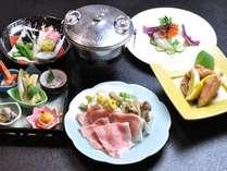 上川産渓谷味豚を使用したしゃぶしゃぶなど道内産にこだわった『道産四季膳』