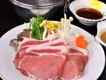 選べるメインの1つ『上川産渓谷味豚しゃぶしゃぶ』