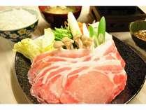 【三元ホエー豚♪黄金豚しゃぶしゃぶ】1泊夕食付♪ご飯お代わり自由♪