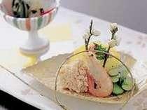 食事は京風懐石になります。1品1品季節の味と香りをお届け(イメージ写真)