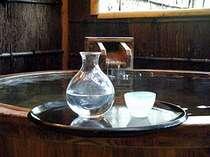 美肌の湯で日本酒を一献。(一例)