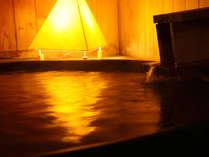 【露天風呂付客室】飛騨ではめずらしい、客室も温泉水の露天風呂