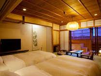 【4階露天風呂付客室ツイン】お部屋の露天も温泉です(写真は一例)