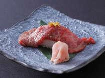 - 別注料理 - 飛騨牛の炙り寿司(イメージ写真)