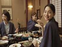 花扇_女子旅旅館食事(じゃらん)
