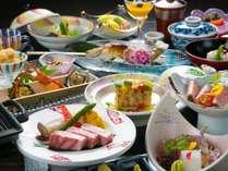 【京風会席一例】メインを飛騨牛「ステーキ」または「しゃぶしゃぶ」をお選びいただけるスタンダード膳