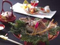【お祝い料理一例】お祝い事や記念日には、おめでたい鯛料理の付いた特別会席がお薦め(オプション)