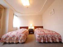 【ツインルーム】窓からは福井城址が一望できす。