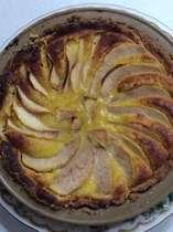洋梨のタルトケーキ