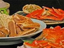 豪華!蟹づくし。蟹刺し・茹で蟹・焼き蟹・蟹すきのフルコースイメージ