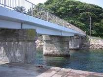 恵比須島に渡る橋が架かり、子供たちの遊び場です。