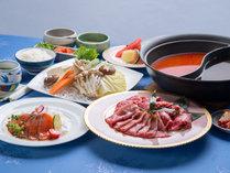 *【しゃぶしゃぶコース】2種類のスープで味わうしゃぶしゃぶコース!