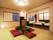 スイートルーム(約48平米 和室部分8畳 ヘ゛ット幅150cm)