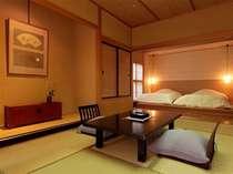 【離れ八花苑 露天風呂付和洋室】あつみ温泉の季節を感じられるゆったりとしたお部屋。