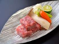 山形牛ステーキ一例