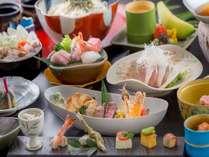 【山を楽しみ、水を楽しむ】今食したい旬の魚と野菜で彩る季節会席プラン
