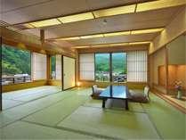 【本館DX】和室12畳+7.5畳 ゆとりのある二間のお部屋はご家族連れにおすすめです。
