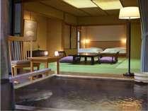 【離れ八花苑 露天風呂付和洋室】10畳和室+和風ベット