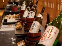 地元の酒蔵おすすめの逸品が4種♪飲みくらべ出来ます