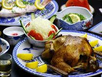 【グレードアップ】スメで作った鶏の丸蒸し♪うなぎ温泉と四季の味を満喫