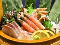 【冬限定♪カニづくし会席】かに刺♪焼き蟹♪天ぷら♪カニ鍋♪鍋の後は雑炊がおすすめです♪ポイント2%