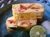 *専用プランのみで食べられる桜エビがたっぷり入った特製玉子焼き。料理長自慢一品です!