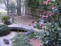 花に囲まれた裏庭