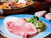 *上州牛ステーキ/当館一番人気の一品。群馬のブランド上州牛を贅沢に…。