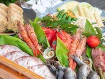 *【夕食:グランピングコース】地産の海の恵み、山の恵みを存分にお愉しみください