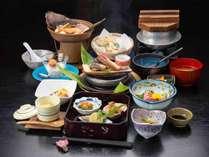 *【夕食:少なめコース(一例)】少量でもしっかり美味しい会席を