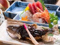 *【夕食:旬菜コース】その日に仕入れた旬の食材をお出しします