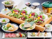 当館定番の霜降り熊野牛&勝浦産天然鮪に、鮑も仲間入り♪
