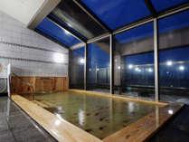 ヒノキ風呂にリニューアル!100%天然温泉♪パノラマ大浴場(塩化物泉+循環式)