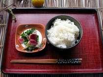 日本人ならやっぱりごはんでしょう、一の倉自家製米をぜひ!